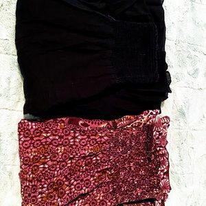 Two cotton strapless sundresses
